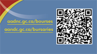 Aboriginal Bursaries Promotional Card picture complete with Quick Response code