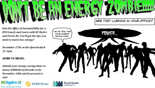 Don't be an Energy Zombie Poster