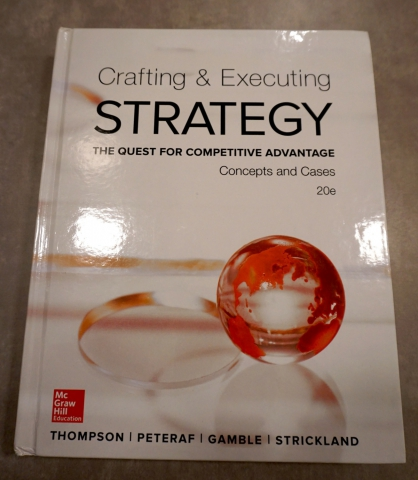 bus599 crafting and executing strategy 9780077385316 bus599 crafting and executing strategy (custom) bus 599,books, textbooks, text book.